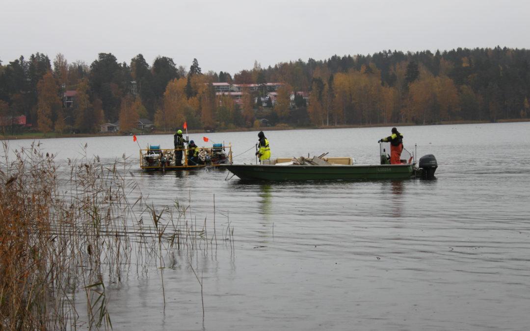 Hoitokalastus alkoi Kymijärvellä