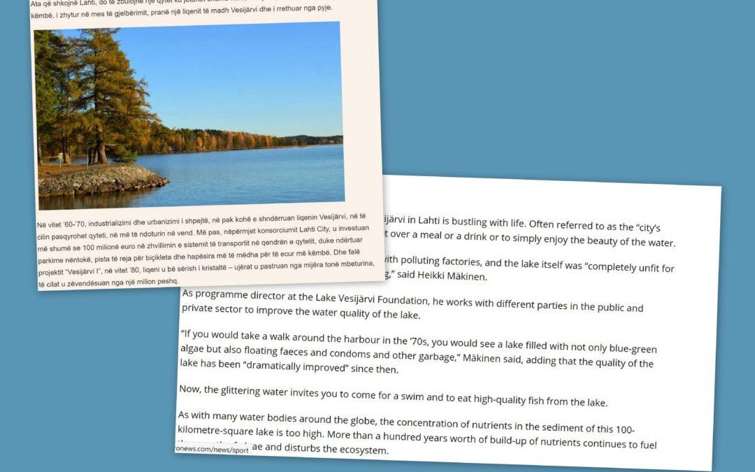 Vesijärvi kiinnostaa kansainvälistä mediaa